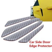 цена на 4pcs car Anti-collision Strips Universal 10.1*1.5cm/7.5*1.3cm Carbon Fiber auto Door Side Edge Guard Protection Trim Stickers