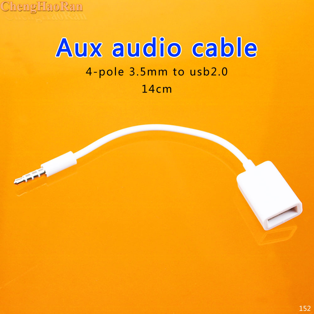 4pole 4-pole 3.5mm Male AUX Audio Plug Jack To USB 2.0 Female Converter Cable Cord For Car MP3 Speaker U Disk USB Flash Drive