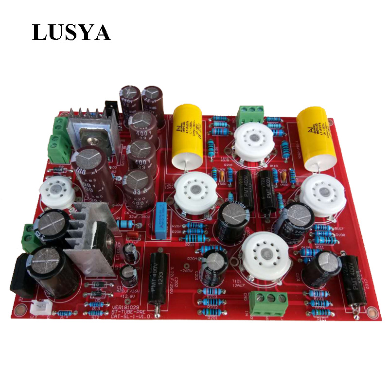 Lusya 12AU7 12AX7B 6H23 bile preamplifier Reference CAT SL1 circuit tube preamp board with Putian regulator Power Board T0632 Lusya 12AU7 12AX7B 6H23 bile preamplifier Reference CAT SL1 circuit tube preamp board with Putian regulator Power Board T0632