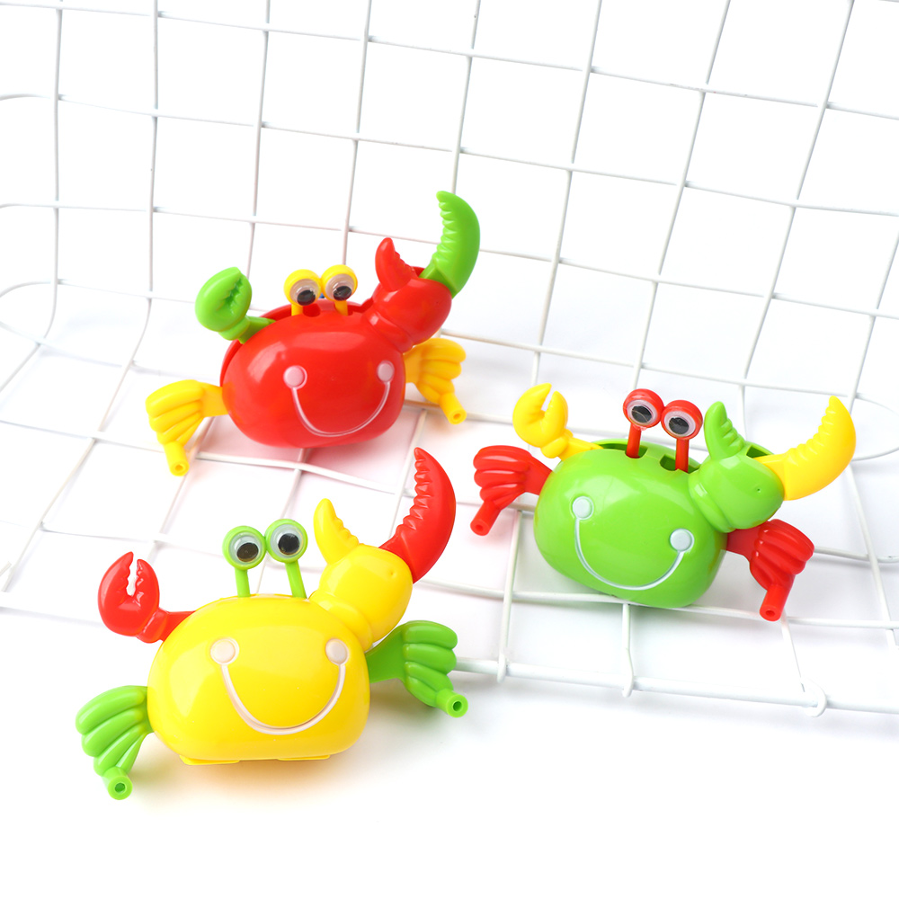 1Pc Kids Toy New Cute Animal Crab Shape Clockwork Toys For Children Kids Classic Lovely Plastic Crab Wind Up Toys Gifts