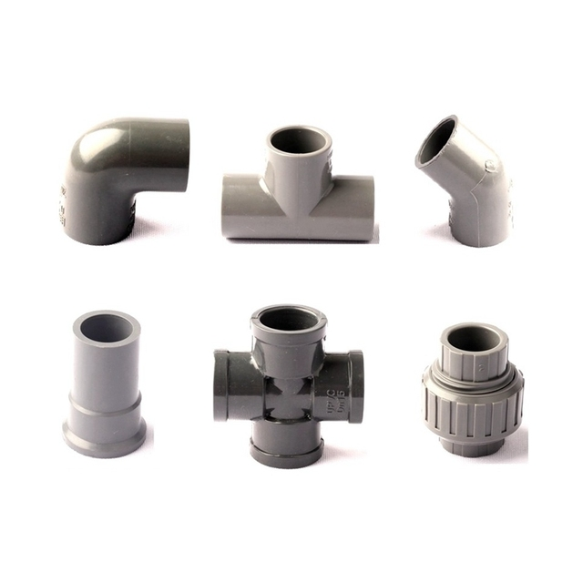 Dn15 1 2 inch 20mm garden pipe pvc connectors 6 type for Types of pvc pipe