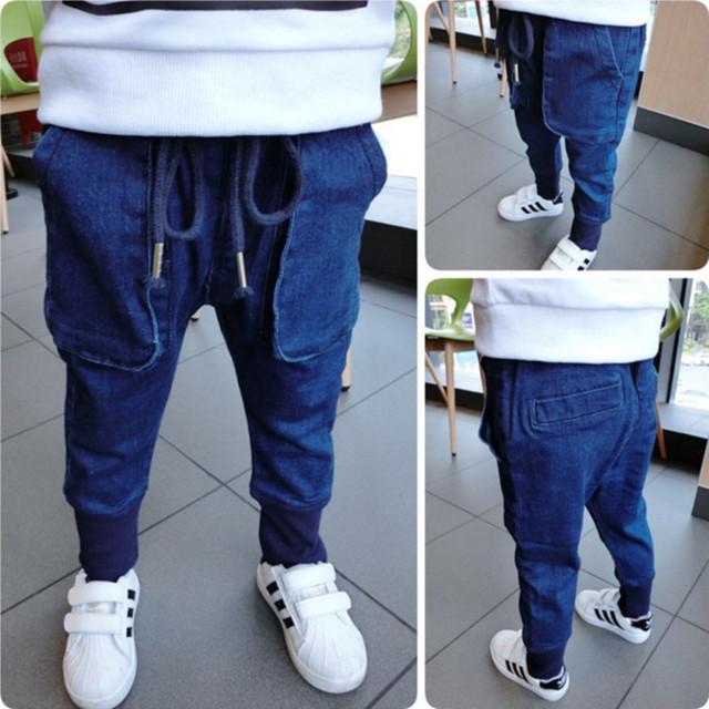 2016 novos meninos outono jeans meninos crianças calças crianças calças crianças calças de brim menino roupas crianças roupas BC-K034