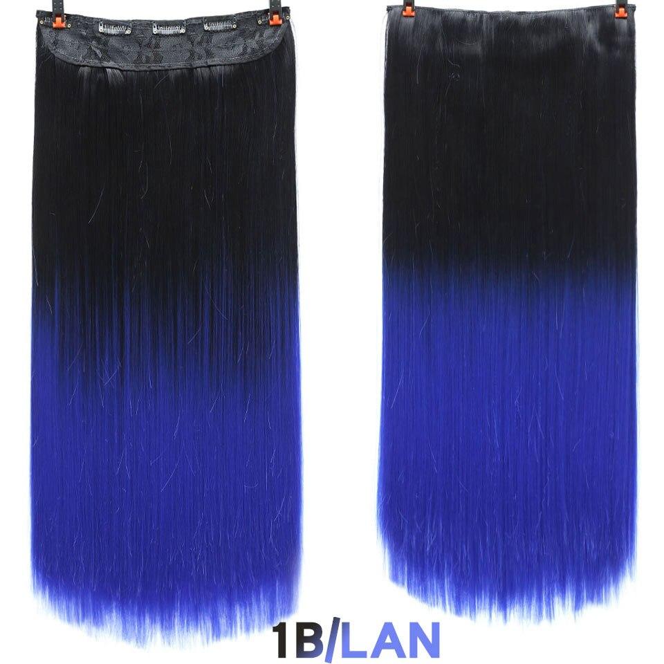 SHANGKE волосы 24 ''длинные прямые женские волосы на заколках для наращивания черный коричневый высокая температура Синтетические волосы кусок - Цвет: 8 #/25 #