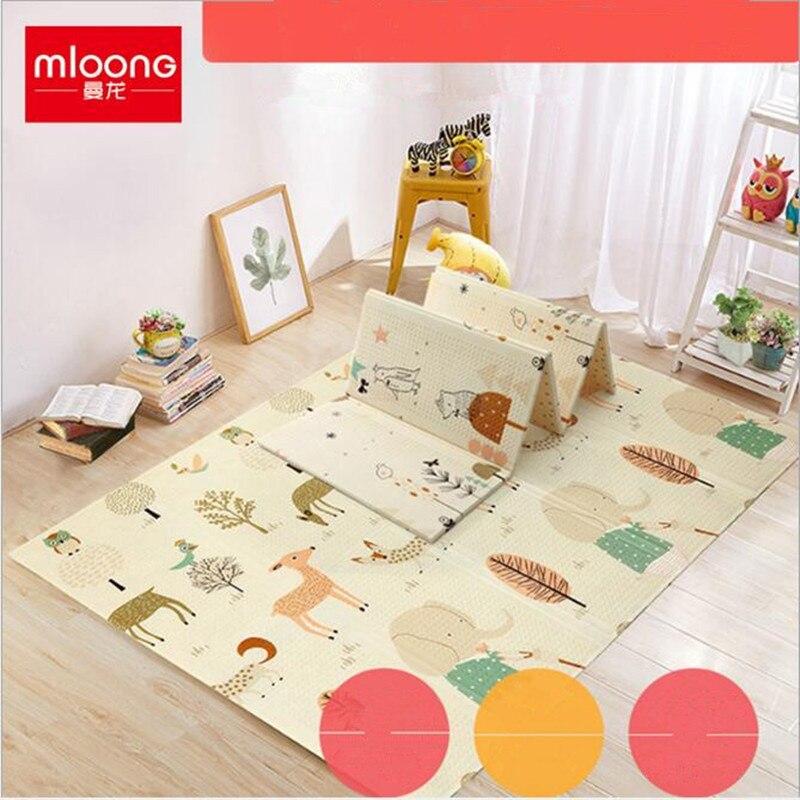 Infantile enfants tapis d'escalade XPE bébé maison ramper tapis épaissir salon pliable environnement mousse enfants jouer tapis cadeaux