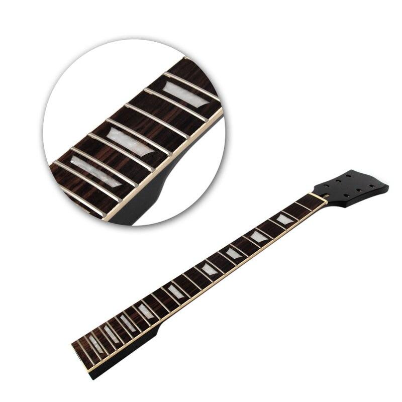 1 Pc Électrique Guitare Cou Pour Gibson Les Paul LP Pièces D'érable Touche Palissandre 22 Frette