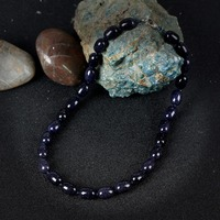 KCALOE Natural Semi Precious Stones Chokers Necklaces Handmade Accessories Fine Vintage Natural Blue Sand Stone Necklace