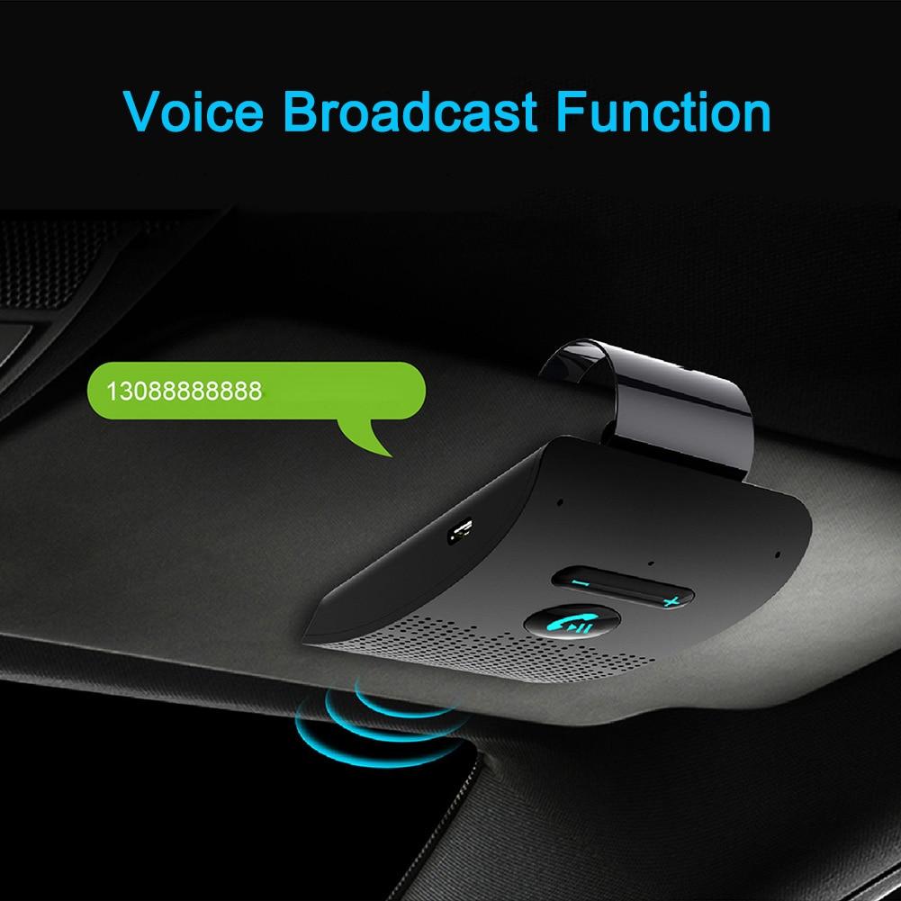 Universal Bluetooth Receiver Car Kit Wireless Handsfree Speaker Phone Visor EM88