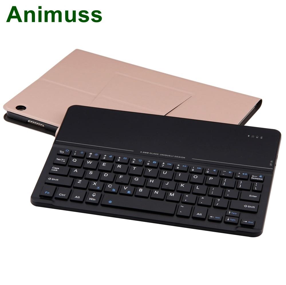 Animuss Flip PU housse en cuir sans fil Bluetooth clavier pour Huawei M3 10.1 pouces