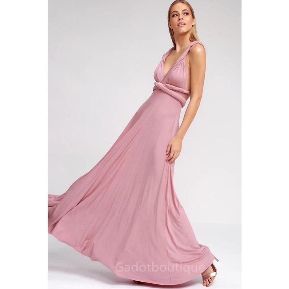 51e05878889e Sexy Women Multiway Wrap Convertible Boho Maxi Club Red Dress Bandage Long  Dress Party Bridesmaids Robe
