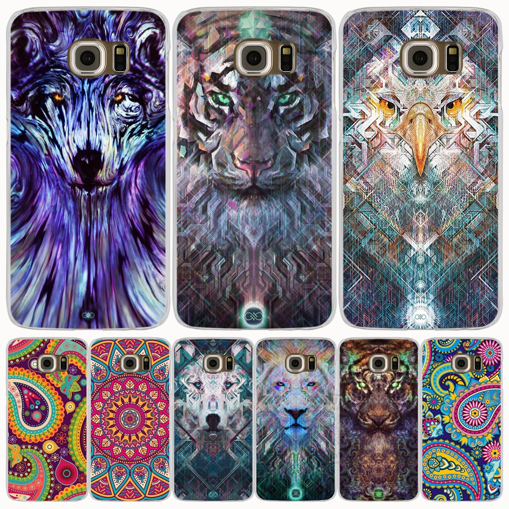 Animal avatar pattern art cell phone case cover for Samsung Galaxy S7 edge PLUS S8 S6 S5 S4 S3 MINI