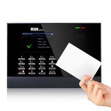 M300Plus ZK время посещаемости близость RFID Время посещаемости системы удар карты Linux системы Биометрические часы времени 30000 пользователей