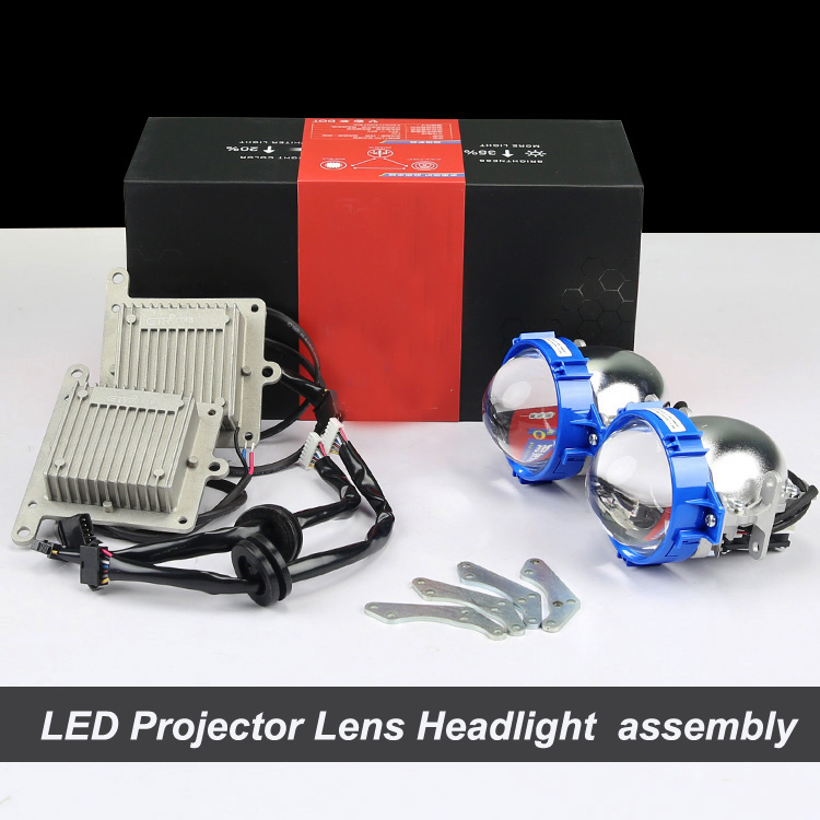 Wonderful Bi-xenon Hi Low beam car LED Projector lens headlight kit Assembly For Auto headlamp Retrofit Custom Upgrade headlamp polishing paste kit diy headlight restoration car plastic restore car head light motor cleaner renew lens polish kit