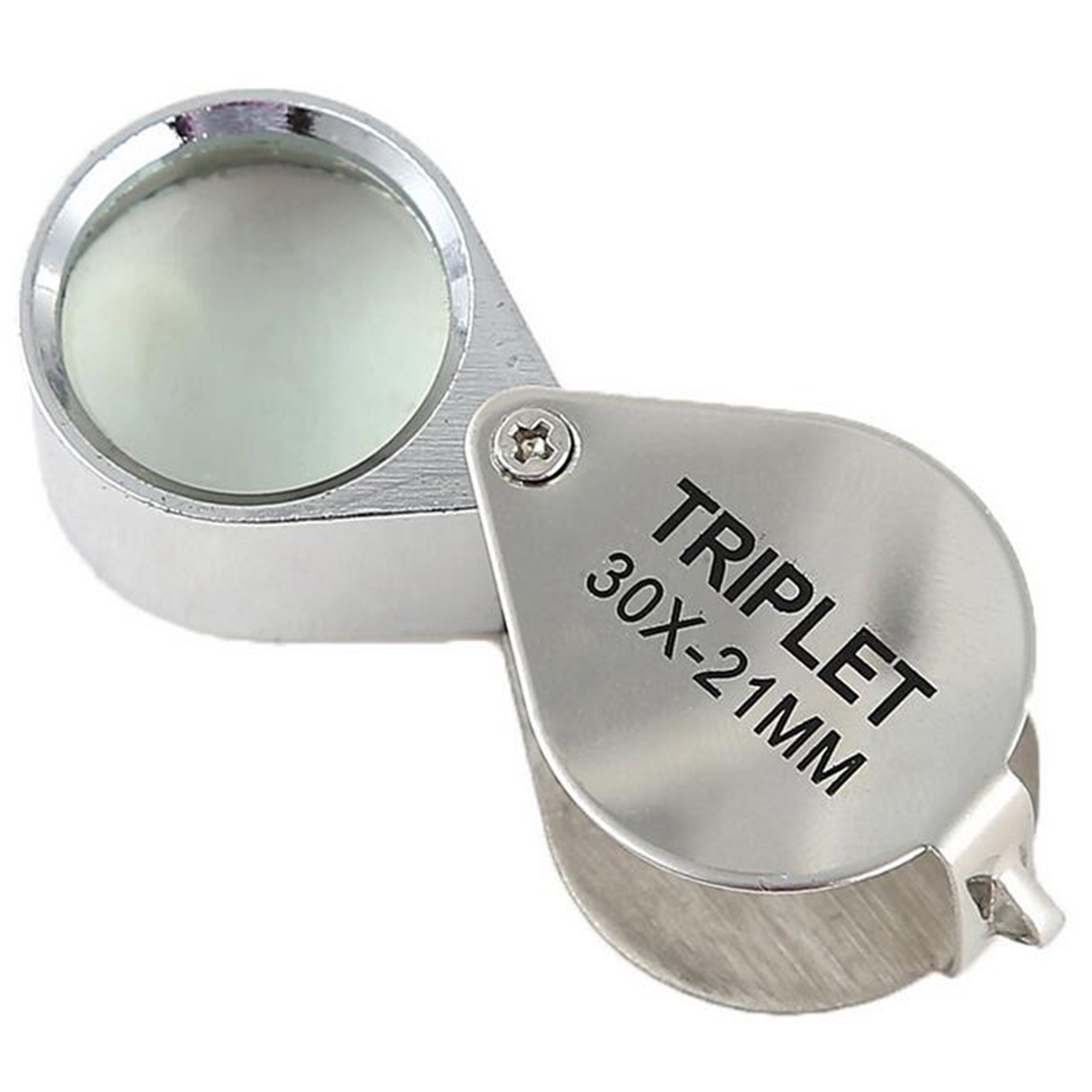Portable 30X Power 21mm Jewelers Magnifier Gold Eye Loupe Jewelry Store Magnifying Glass