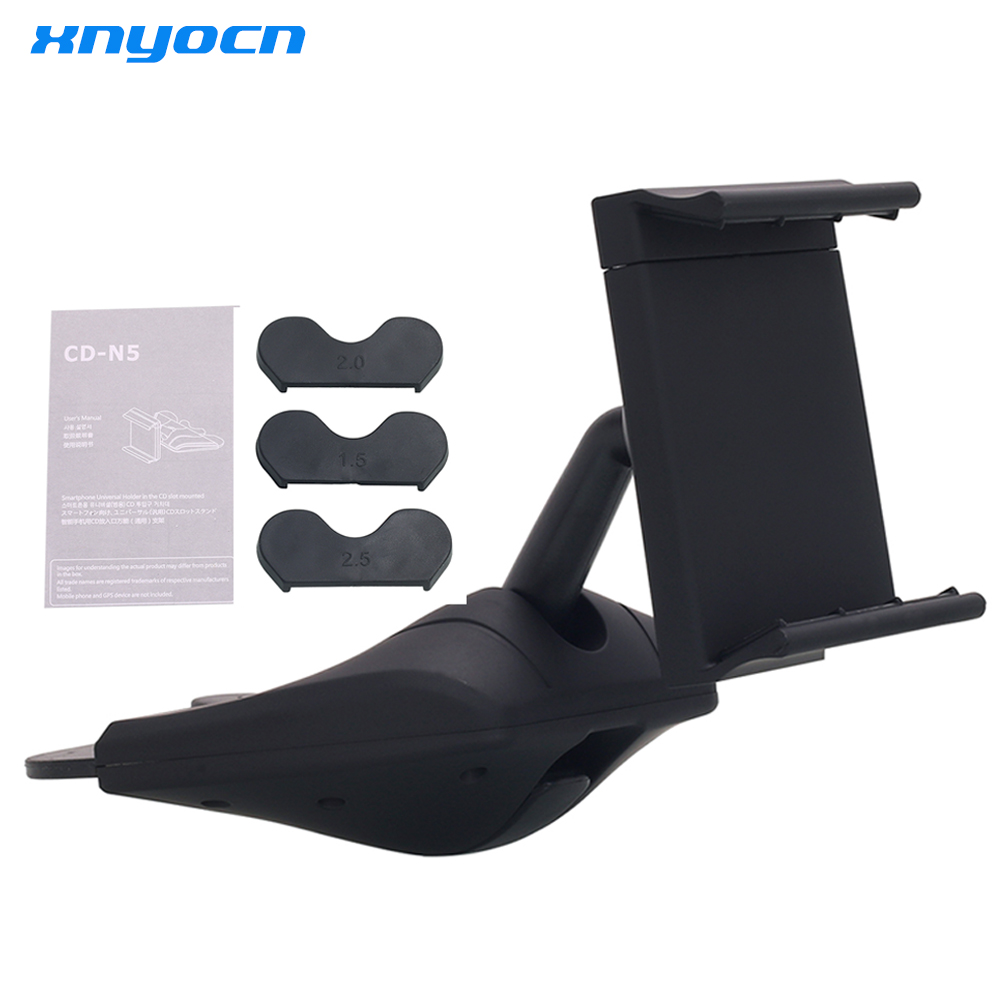 CD Fixed 360 degree Rotation In-car Mount Bracket Holder Phone Support Stand For Mobile Phone Simple Practical