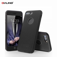 QIALINO For IPhone6 IPhone6s Phone Cover Funda Mesh Holes Genuine Leather Skin PC Phone Cover For