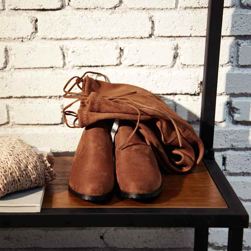 KemeKiss 2020 kobiety 7 kolory stado skóra zima nad buty do kolan miękkie Stretch buty jesień mieszkania buty obuwie rozmiar 34-43