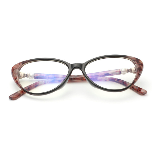 f019f97c83 Womens Oval Cat Eye Retro reading glasses Cat Eye Optical glasses TR90  Customized Strengths 1.0 1.5