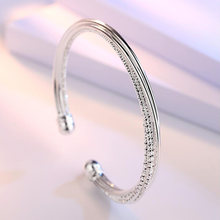 Новый автомобильный серебряный браслет с цветком витой линией
