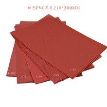 Mới 210X300 Mm Kiến Trúc Mẫu Matrials PVC Mái Ngói Nhựa Quy Mô 1/25 100 Mô Hình Nhựa PVC Đỏ Tờ