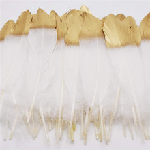 wholesale Dipped Gold and Silver goose feather 10pcs-100pcs/lot 15-20cm DIY decor feathers for crafts wedding Decoration plumas 10pcs turkey feathers wing quill feather black tipped imitation 25 30cm eagle feathers for crafts feather decor plume decoration