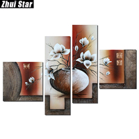 Zhui Star 5D DIY Full Square Diamond Painting Flower Multi Picture Combination Embroidery Cross Stitch Mosaic