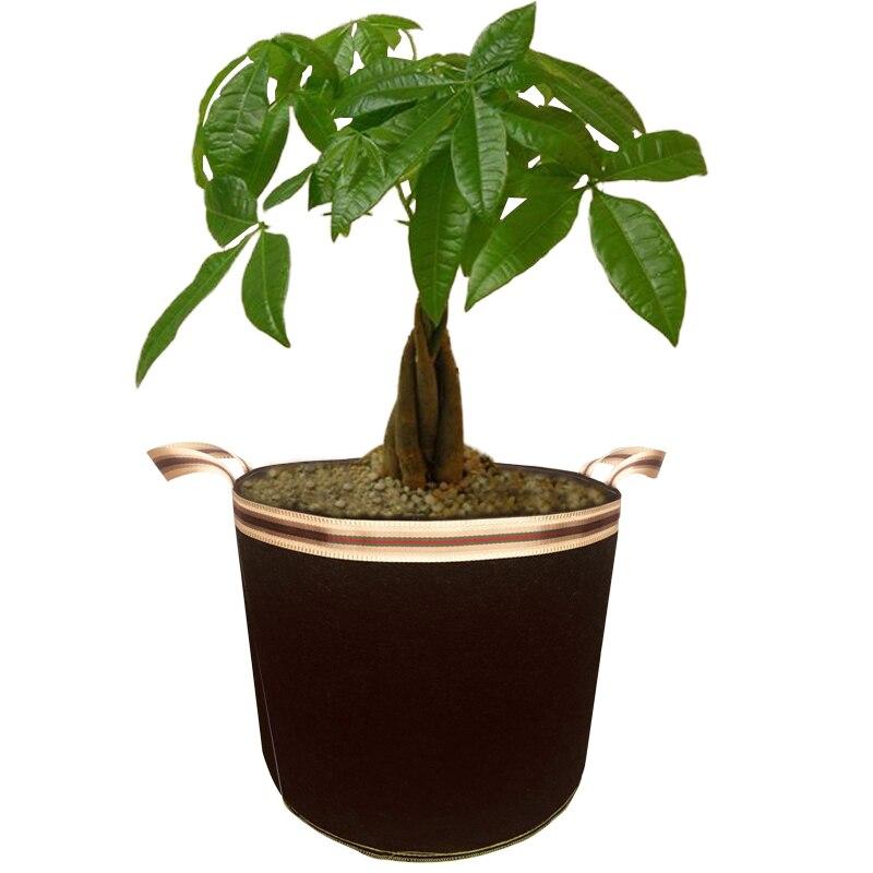 5pcs set Felt cloth Planting Bag 5 10 20 30 40 65 Gallon Non Woven Grow