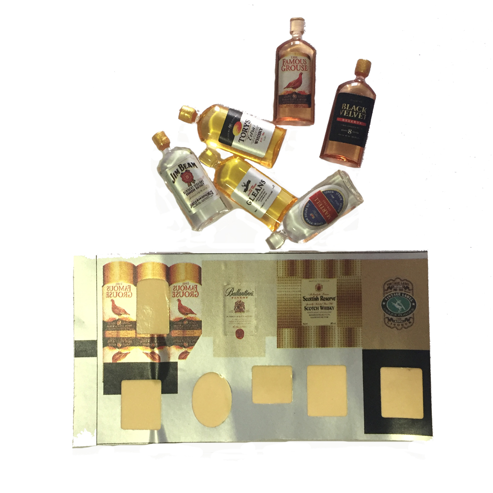 Dollhouse Miniature Drink Whisky Wine Bottles Model Pretend Play Toys for Kids