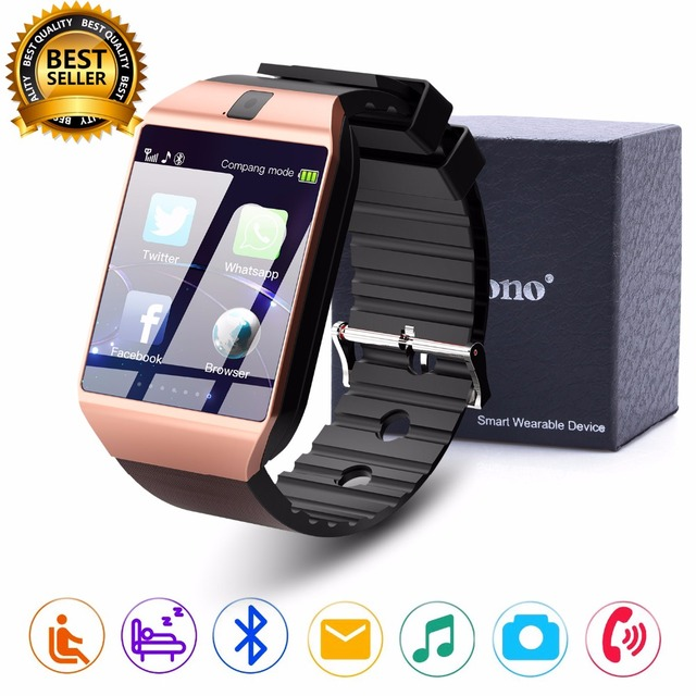 f39c2f2b5 Cawono DZ09 inteligente reloj Bluetooth Smartwatch, relojes reloj TF  tarjeta SIM cámara para iPhone Samsung