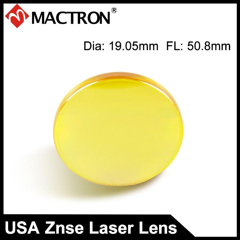 USA import 19.05mm Dia CVD ZnSe CO2 laserfookusega objektiiv, fookuskaugus 50,8 mm