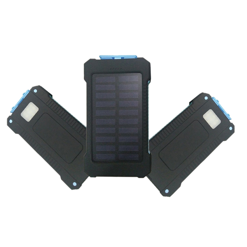 1pcs Diy Waterproof Dual Usb Mobile Phone Accessories No Battery Solar Led 50000mah Power Bank Charger Case Kit 14.9cm X 7.4cm X 1.8cm