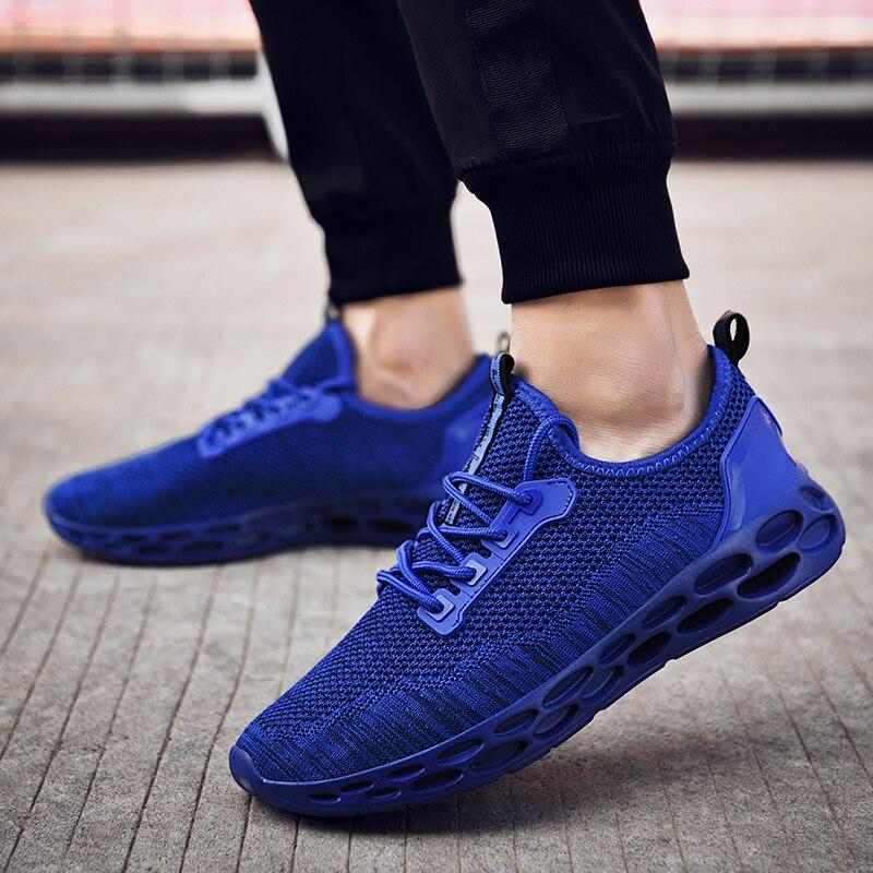 Chaude 2018 Mode Hommes 46 Adulte bleu Confortable Léger Chaussures Baskets Respirant Vente Casual rouge Noir blanc Grande Qualité Taille 38 Haute qr0q5C
