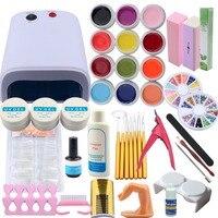 Manicure Set UV Gel Nail Set 36w UV Dryer Lamp for Nail Kit 12Colors UV Gel Manicure Tools Nail UV Gel Kit Nail Extension Kits