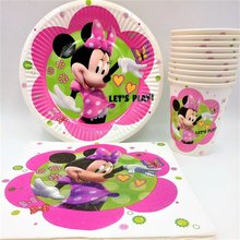 40pcs/lot Minnie Mouse birthday Party Cup/Plate/Napkin Decoration Disposable Tableware Kids Boys Supplies