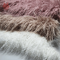 6 Colors solid 7cm long pile fluffy faux mongolian fur fabric newborn baby photography props fake tibet sheep fur tissu SP5377