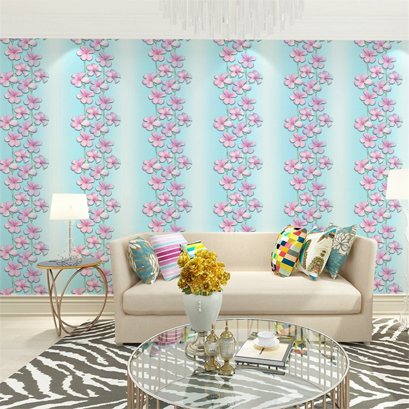 Collection Here Beibehang Fashion Garden Pink Petals Wallpaper Living Room Clothing Store Beauty Salon Restaurant Tea Shop Simple Rattan Wall Good For Energy And The Spleen Painting Supplies & Wall Treatments