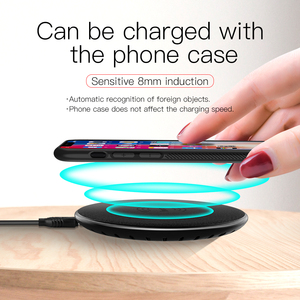Image 4 - HOCO Wireless Charger for iPhone X XR Xs 8 Qi Wireless Charging Pad for Samsung S9 S8 Plus Xiaomi Mi 9 USB Mobile Phone Charger