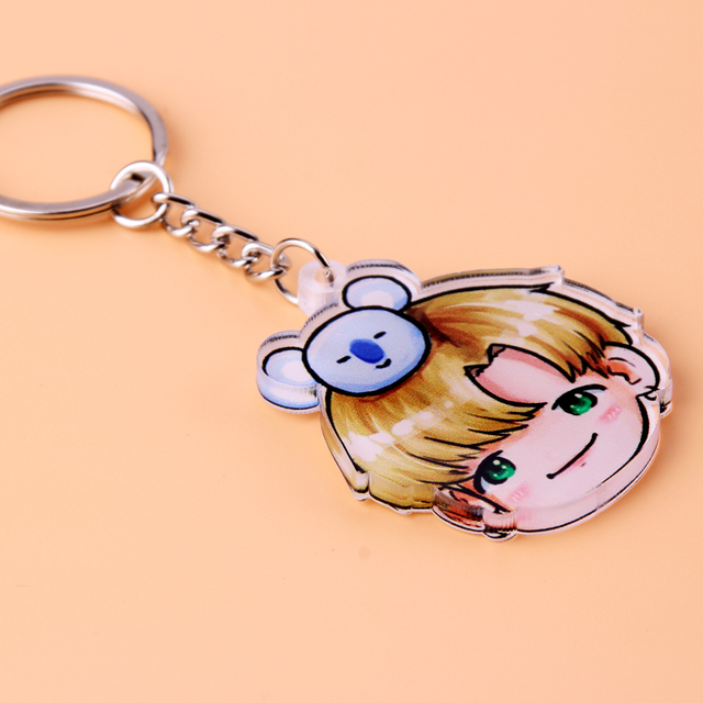 Acrylic Anime Cute Keychain Love Yourself Porte Clef Key Chain 4