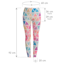 Colorful Traingles Printed Women Leggings
