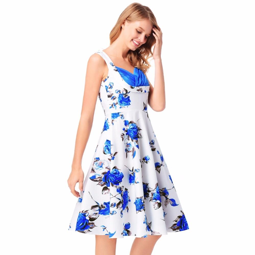 Women Dress Summer Sleeveless Sweet Boho Sexy Party Night Club Wear Evening 2018 Vintage Floral Ladies Dresses