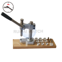 Watch Back Case Press Closer Machine,Professional Watch Tool Table Type Watch Press with 10pcs assort size Aluminum Dies