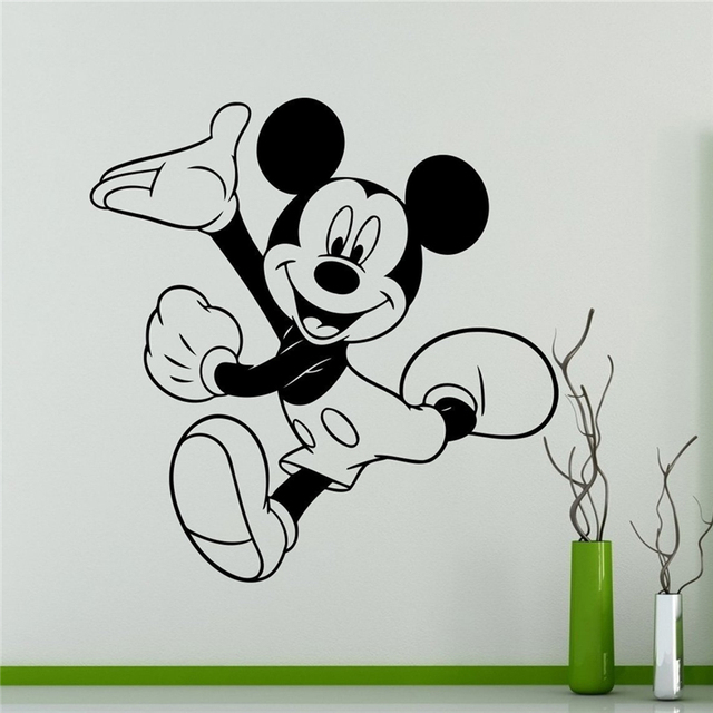 aliexpress com buy mickey mouse wall decal cartoon vinyl