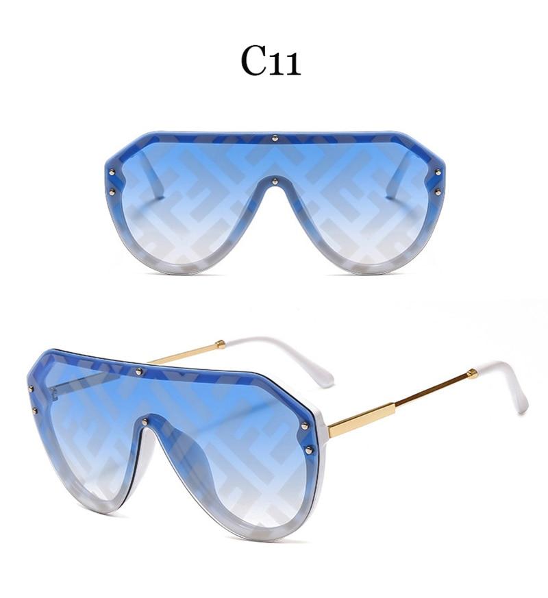 2019 New F Watermark One-piece Sunglasses PC Copy Film Men Women Sunglasses Girls Personality Colorful Fashion Wild Sun Glasse (17)