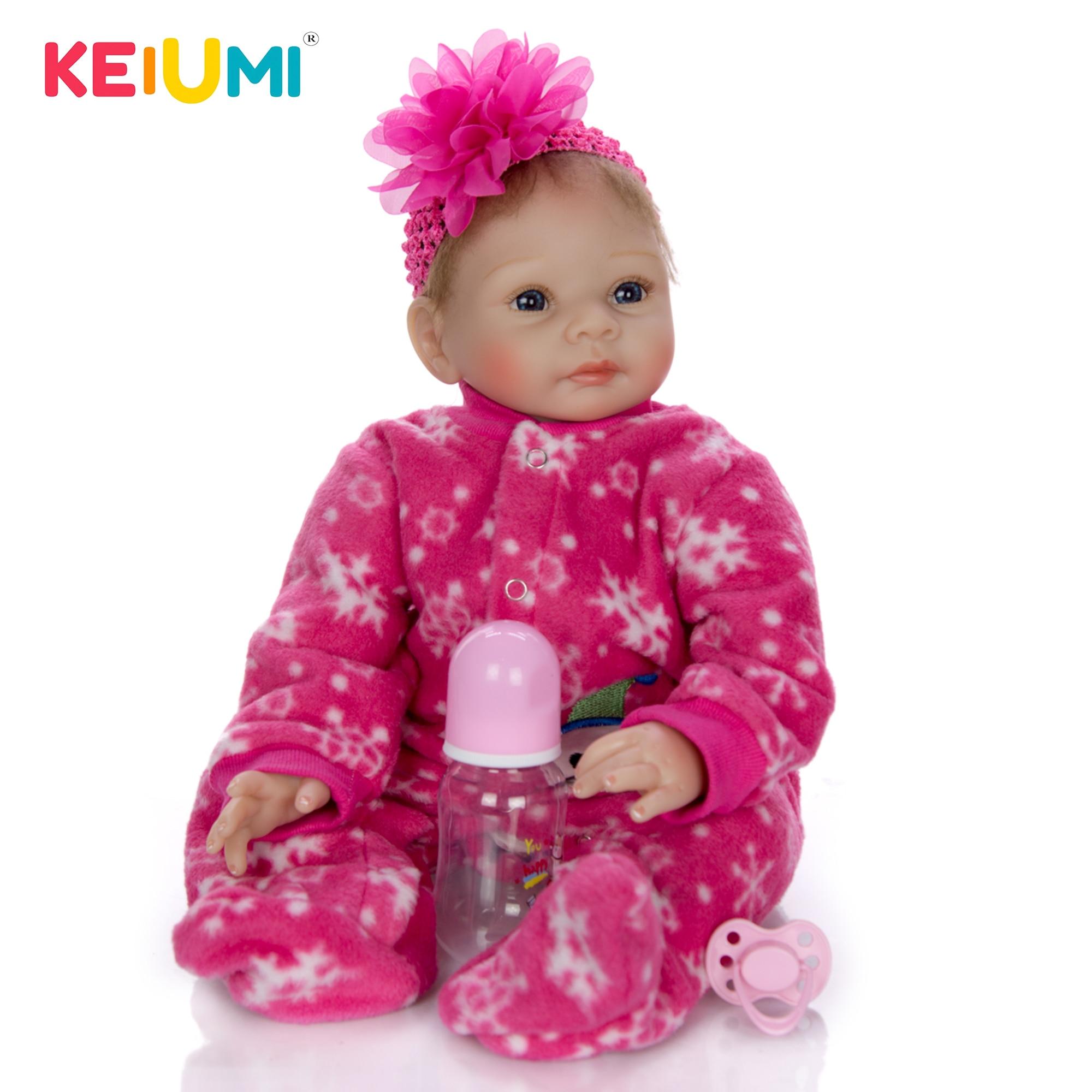 สมจริง 55 ซม.เด็กทารก Reborn ซิลิโคนไวนิลตุ๊กตาทารกแรกเกิดเจ้าหญิง 22 ''Reborn ตุ๊กตาของเล่นตุ๊กตาผ้าเด็กแฟชั่นของขวัญ-ใน ตุ๊กตา จาก ของเล่นและงานอดิเรก บน   1