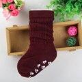 O envio gratuito de Alta qualidade da moda linda 1-9 idades três tamanho longo meias de algodão Do Bebê meninos meninas meias para crianças dos miúdos CM208