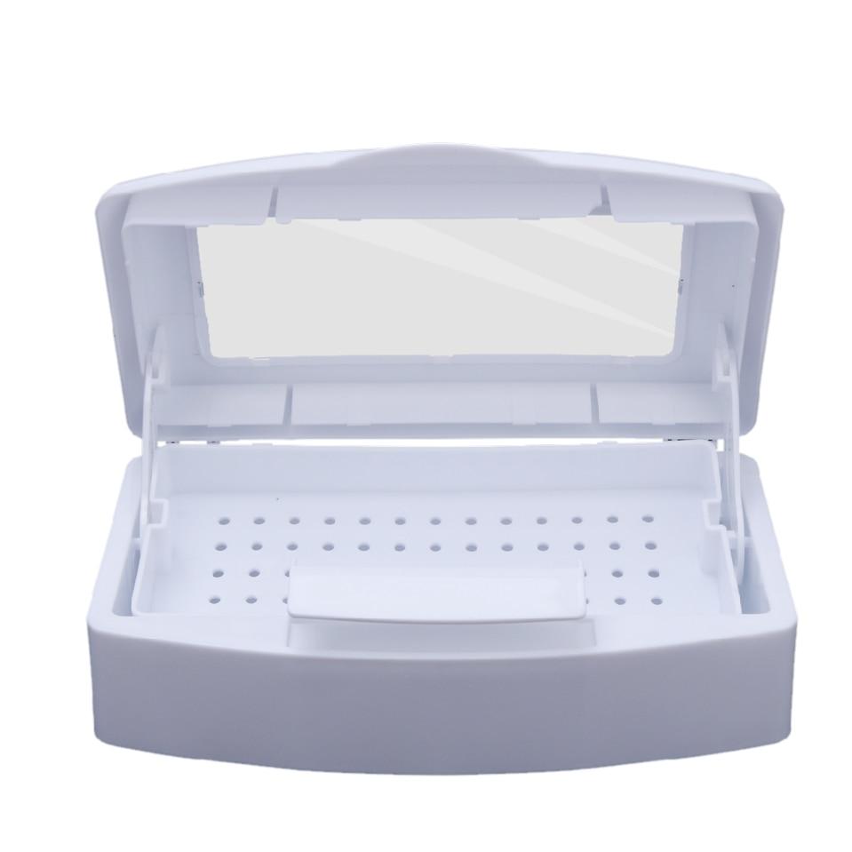 Pro Nail Sterilizer Disinfection Box Salon Nail Nipper Tweezers Metal Tools Disinfector Sanitizer Box Nail Manicure Machine Set