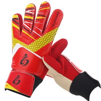 Kid's soccer goalkeeper gloves guantes de portero for children 5-16 years old soft goalkeeper gloves children riding scooters sp 11