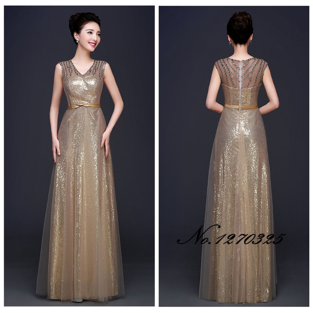 Gold sequin floor length bridesmaid dress dress images gold sequin floor length bridesmaid dress ombrellifo Images