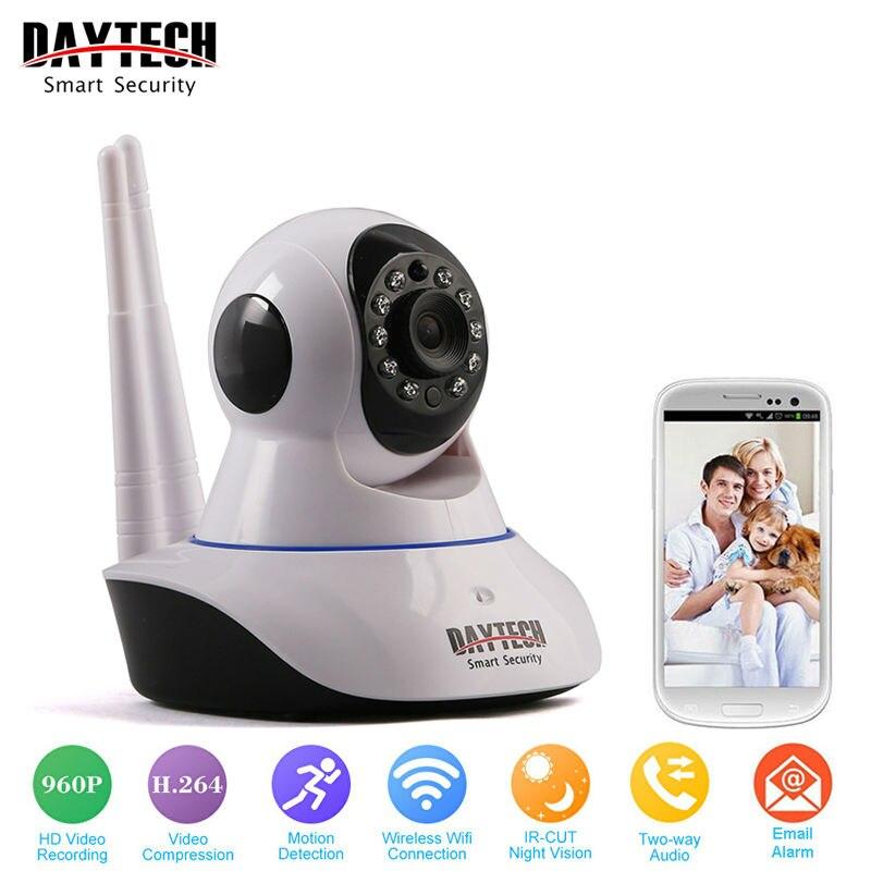 DAYTECH WiFi Caméra IP 960 P Sécurité À La Maison Caméra Wi-Fi P2P Deux Way Audio IR Night Vision Réseau Bébé Moniteur Sans Fil HD 960 P