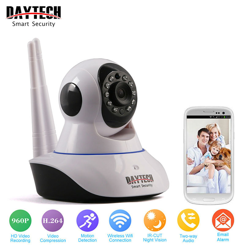 DAYTECH WiFi Camera IP 960P Home Security Camera Wi-Fi P2P Two Way Audio IR Night Vision Network Baby Monitor Wireless HD 960P hd 960p wireless ip camera wifi ir cut night vision two way audio p2p video surveillance security camera wi fi micro sd card