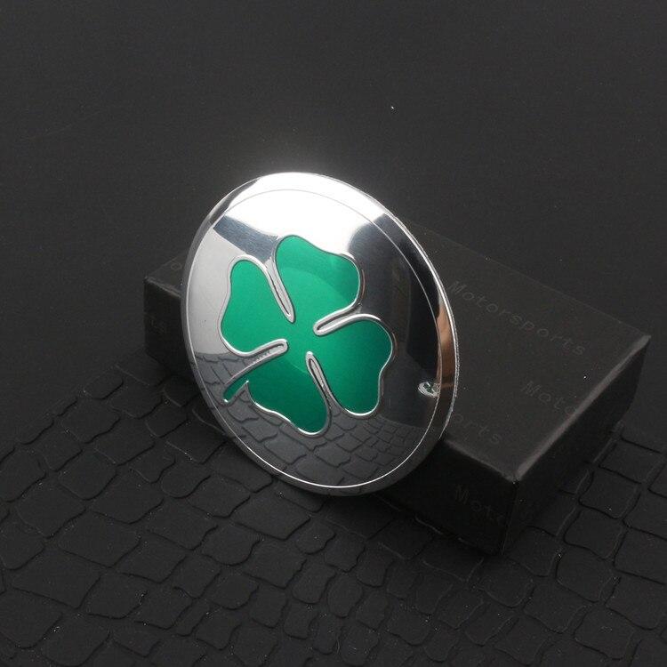 Green Four Leaf Clover Lucky Symbol Alfa Romeo Thin Aluminium Emblem